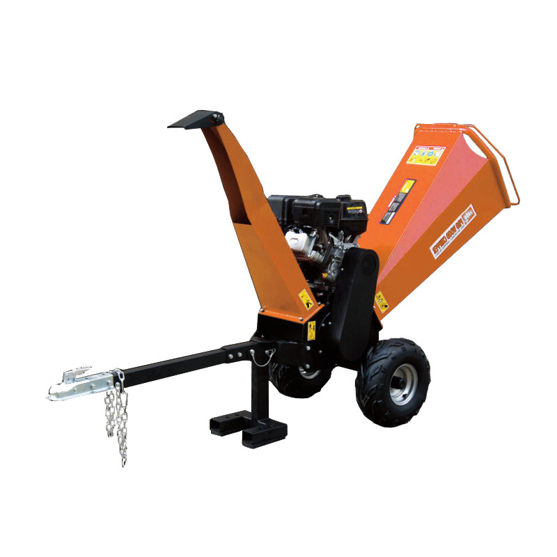 Chipping Tree Branch Gasoline Wood Chipper Timber Shredder 15HP Wood Chipper